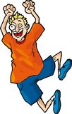 Cartoon of Happy Jumper Royalty Free Stock Image