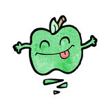 cartoon happy jumping apple Royalty Free Stock Photos