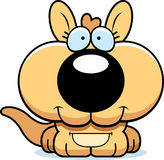 Cartoon Happy Kangaroo Royalty Free Stock Photos