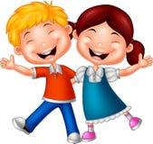 Cartoon happy kids. Illustration of Cartoon happy kids Stock Image