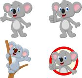 Cartoon happy koala collection set vector illustration