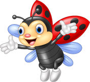 Cartoon happy ladybug waving Stock Photo