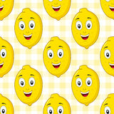 Cartoon Happy Lemon Seamless Pattern Stock Photos