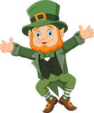 Cartoon happy leprechaun dancing Royalty Free Stock Photography