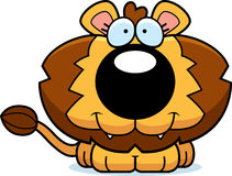 Cartoon Happy Lion Cub Royalty Free Stock Photos