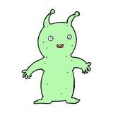 Cartoon happy little alien Royalty Free Stock Photos