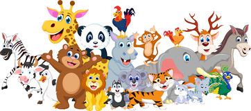 Cartoon happy little animal Royalty Free Stock Images