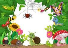 Cartoon happy little animals Stock Photos