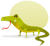 Cartoon Happy Lizard Royalty Free Stock Images