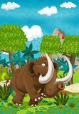 Cartoon happy mammoth Stock Photo
