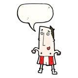 Cartoon happy man in boxer shorts Royalty Free Stock Photo