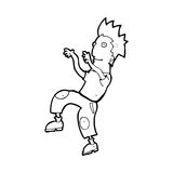 Cartoon happy man doing funny dance Stock Image