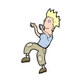 Cartoon happy man doing funny dance Royalty Free Stock Photography
