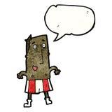 cartoon happy man in socks and underwear Royalty Free Stock Photography