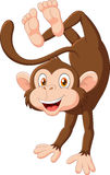 Cartoon happy monkey dancing Royalty Free Stock Images