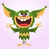 Cartoon happy monster. Vector illustration of green monster . Halloween design. Cartoon happy monster. Vector illustration of green monster . Halloween design vector illustration