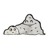 Cartoon happy mountain Stock Image