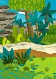 Cartoon happy nature scene - jungle Royalty Free Stock Photos