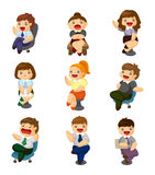 Cartoon happy office workers icon vector illustration