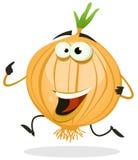 Cartoon Happy Onion Character Stock Photography