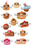 Cartoon Happy Pastry And Bakery Stock Photo