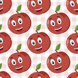 Cartoon Happy Peach Seamless Pattern Royalty Free Stock Photography