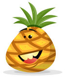 Cartoon Happy Pineapple Character Stock Photo