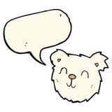 cartoon happy polar bear face with speech bubble Royalty Free Stock Photo