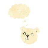 cartoon happy polar bear face with thought bubble Stock Photo