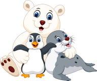 Cartoon happy pole animals Stock Photo