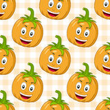 Cartoon Happy Pumpkin Seamless Pattern Stock Images
