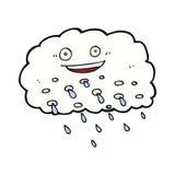 Cartoon happy raincloud Royalty Free Stock Photography