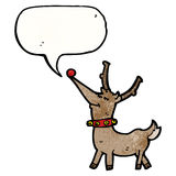 Cartoon happy reindeer Stock Images