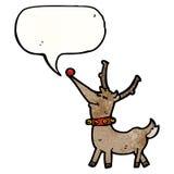 Cartoon happy reindeer Stock Images