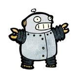 cartoon happy robot Stock Photo