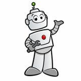 Cartoon Happy Robot. Vector illustration of cartoon robot for design element Stock Photos