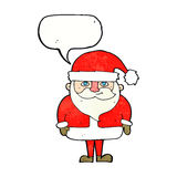Cartoon happy santa claus with speech bubble Royalty Free Stock Photos