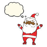 cartoon happy santa claus with thought bubble Royalty Free Stock Image