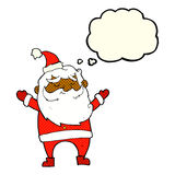 cartoon happy santa claus with thought bubble Stock Images