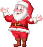 Cartoon happy santa claus waving stock illustration