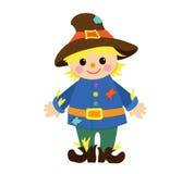 Cartoon happy scarecrow. Vector illustration. Stock Photography