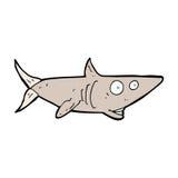 cartoon happy shark Stock Image