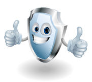 Cartoon happy shield man Royalty Free Stock Photos
