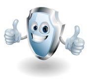 Cartoon happy shield man Royalty Free Stock Photos