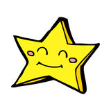 cartoon happy star character Royalty Free Stock Images