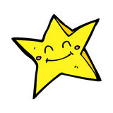 cartoon happy star character Stock Images