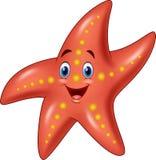 Cartoon happy starfish Stock Image