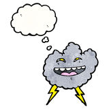 Cartoon happy storm cloud Royalty Free Stock Photo