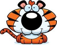 Cartoon Happy Tiger Cub Royalty Free Stock Photo