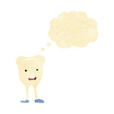 cartoon happy tooth with thought bubble Stock Photos